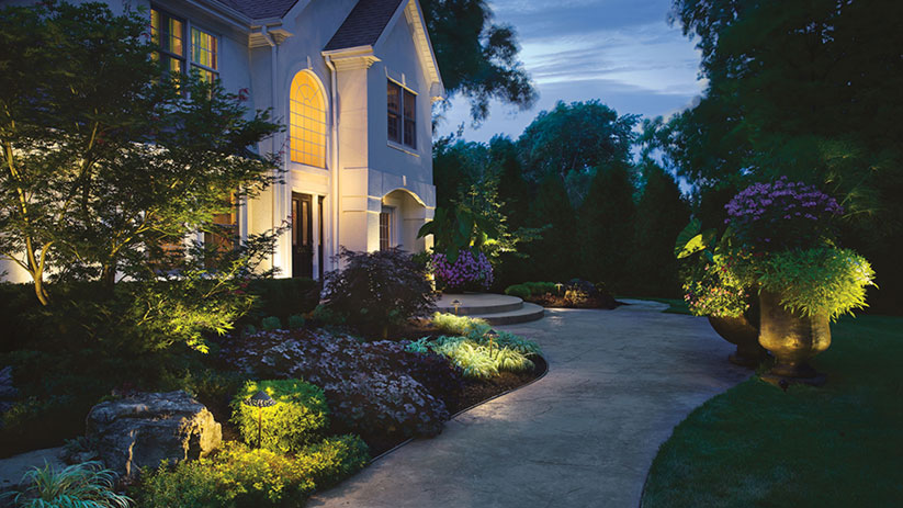 home dfw lighting in creative landscape service outdoor nightscapes